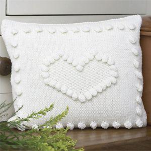 Knit a bobbled heart cushion: free knitting pattern:: Free knitting pattern #amidsummerknitsdream & Knit a bobbled heart cushion: free knitting pattern:: Free ... pillowsntoast.com