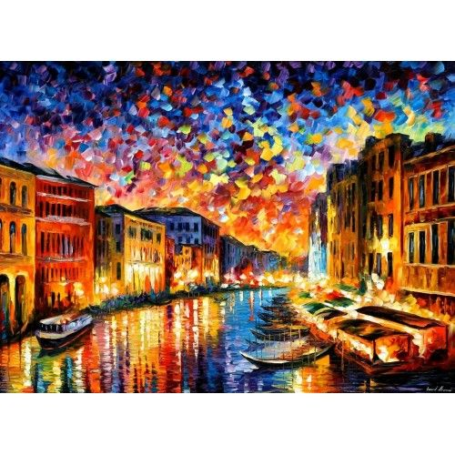 new from Leonid Afremov: Venice - oil painting on canvas