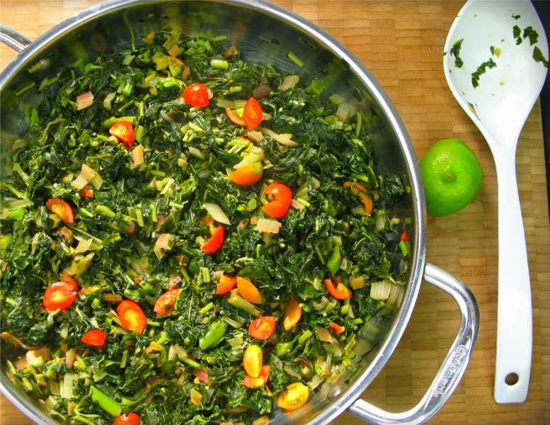 how to cook callaloo guyanese style