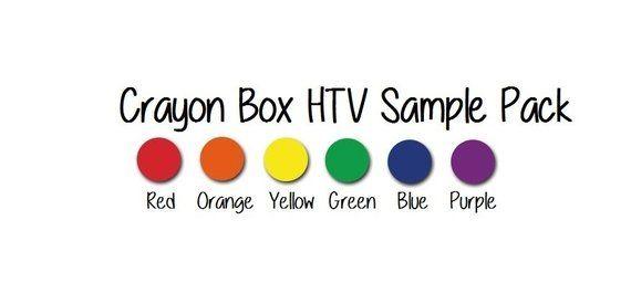 Siser EasyWeed HTV Sample Pack - Crayon Box HTV Pack