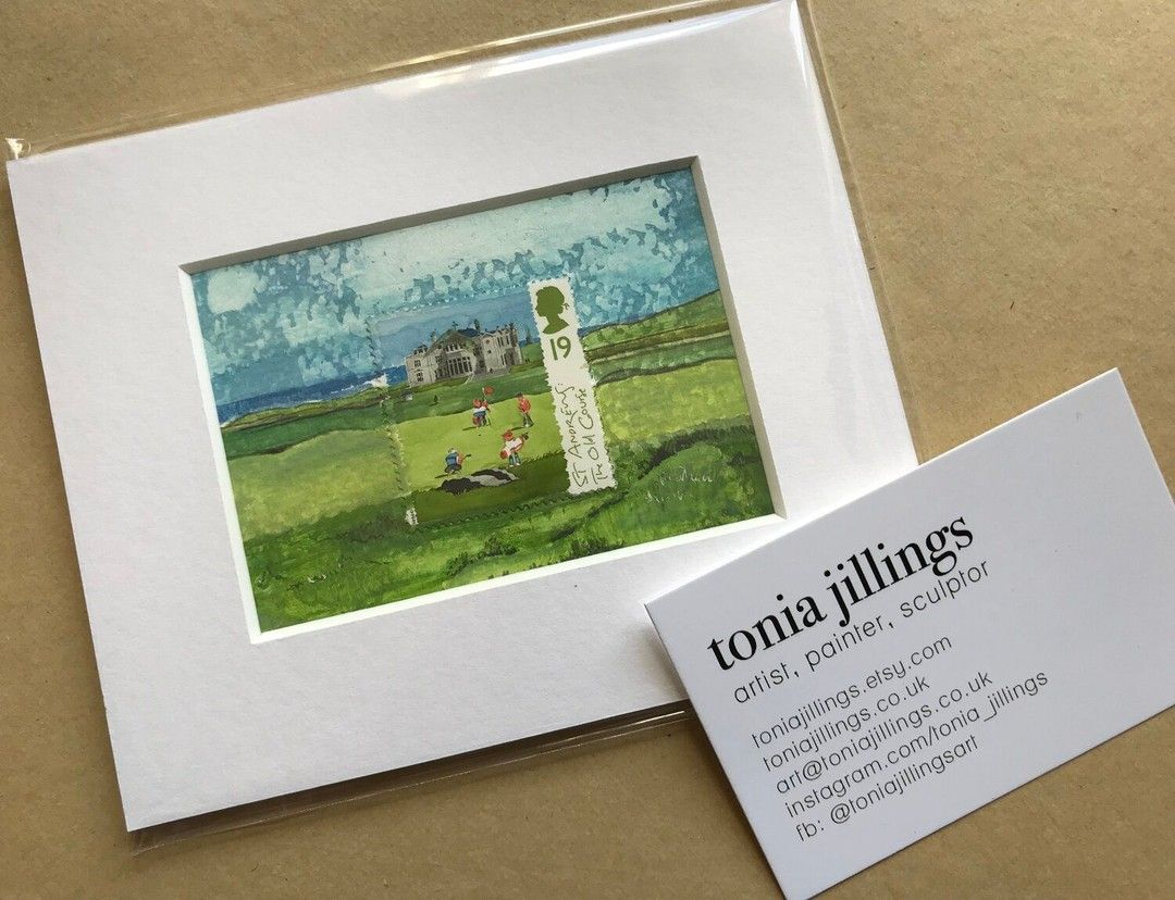 Art For Your Desk To Remind You Of A Day On The Golf Course Https Buff Ly 2lps661 Golf Golfathome Golfuk In 2020 Postage Stamp Art Postal Gifts Golf Art