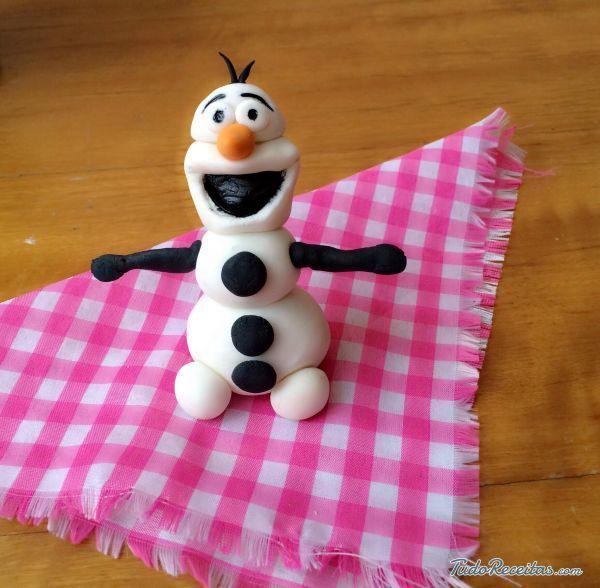 Figuras de fondant - Olaf Frozen