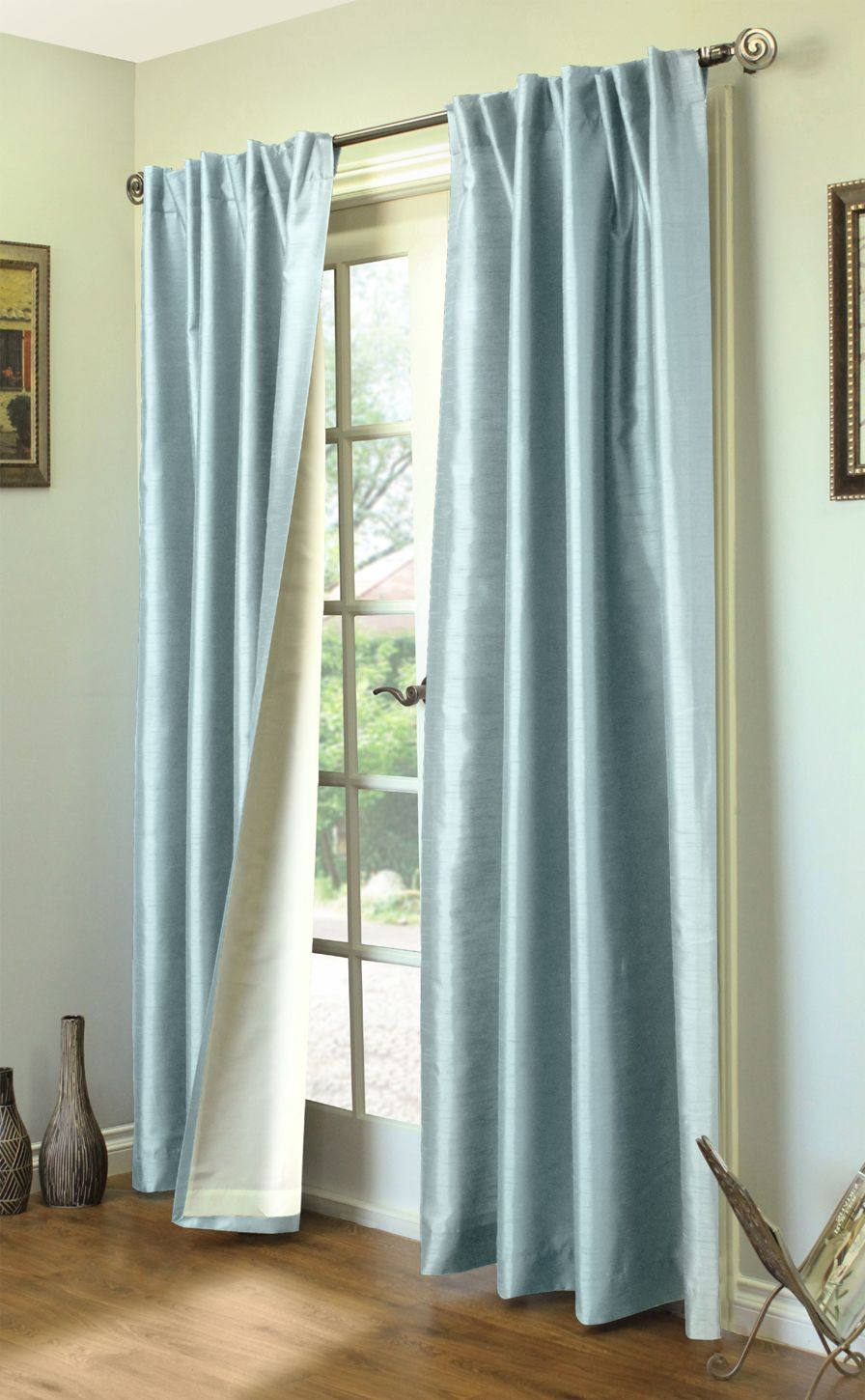 Ming Lined Thermasilk Two Ways to Hang Curtain Panels