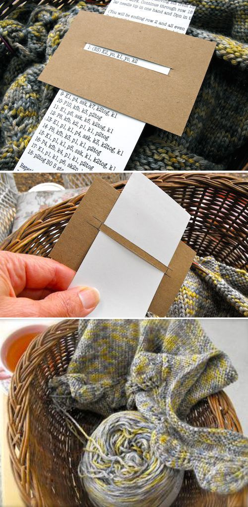 Hint for knitting a repeated pattern #knittinginspiration
