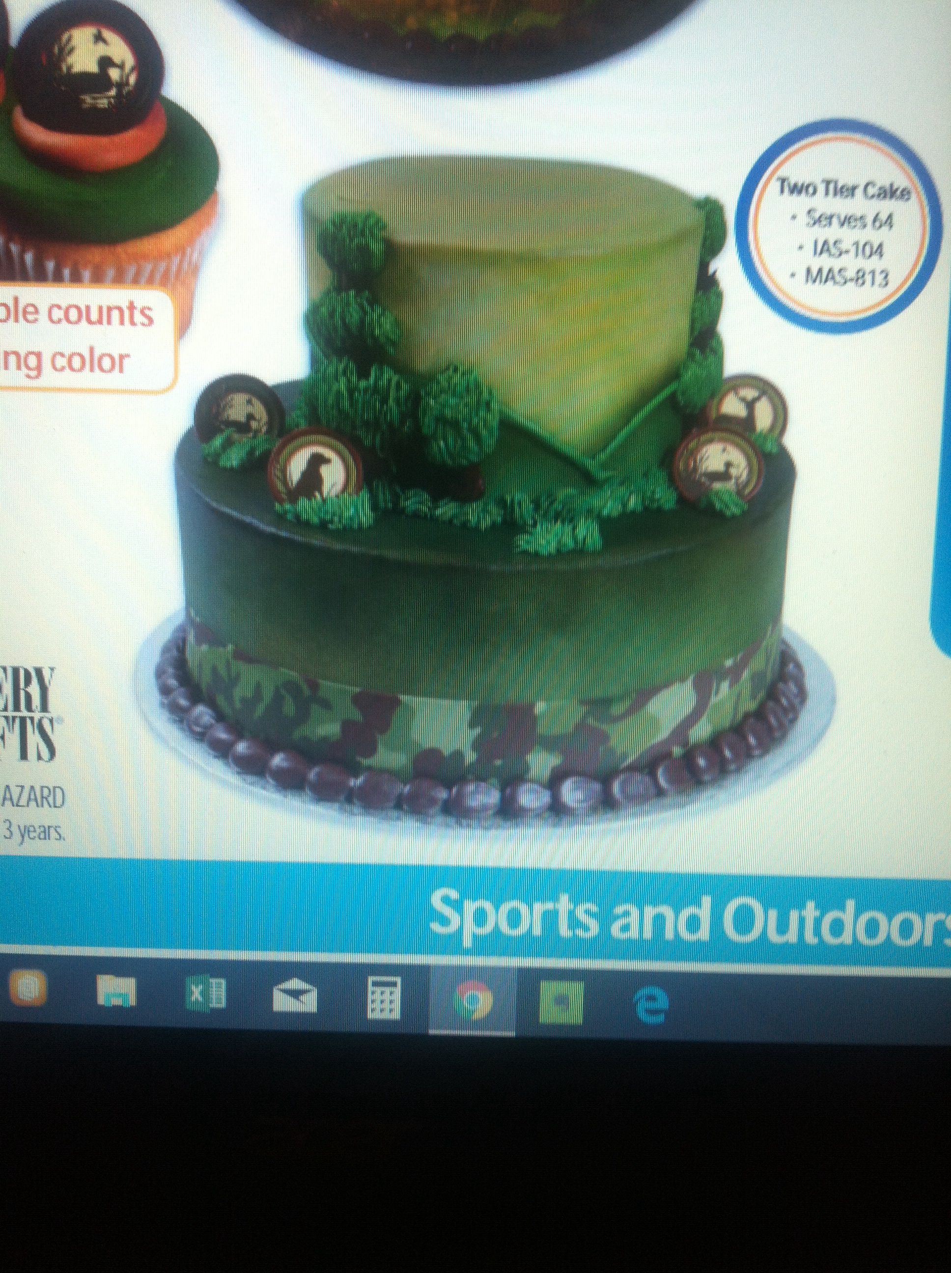 Sensational Live To Hunt Cake 58 For 2 Tiers Walmart Sports Outdoors Birthday Cards Printable Riciscafe Filternl
