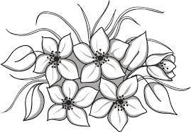 Dibujos De Flores Dibujos De Flores Flores Para Imprimir Pintar En Tela