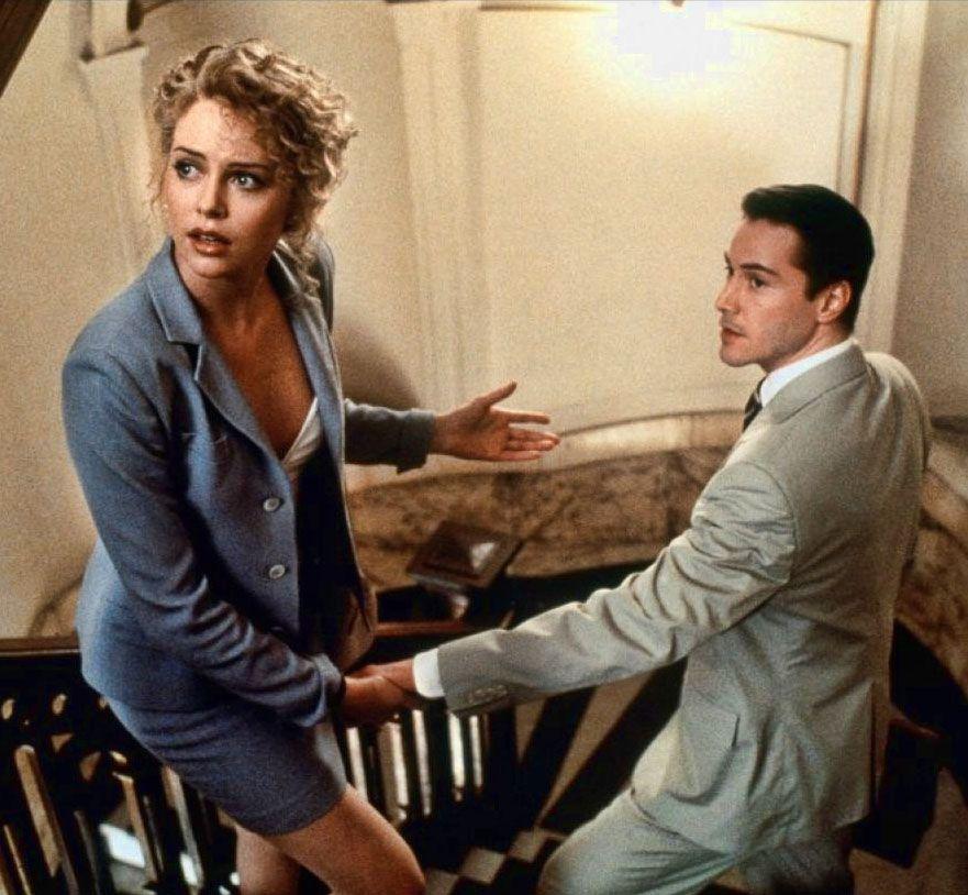 """Charlize Theron y Keanu Reeves en """"Pactar con el Diablo ..."""