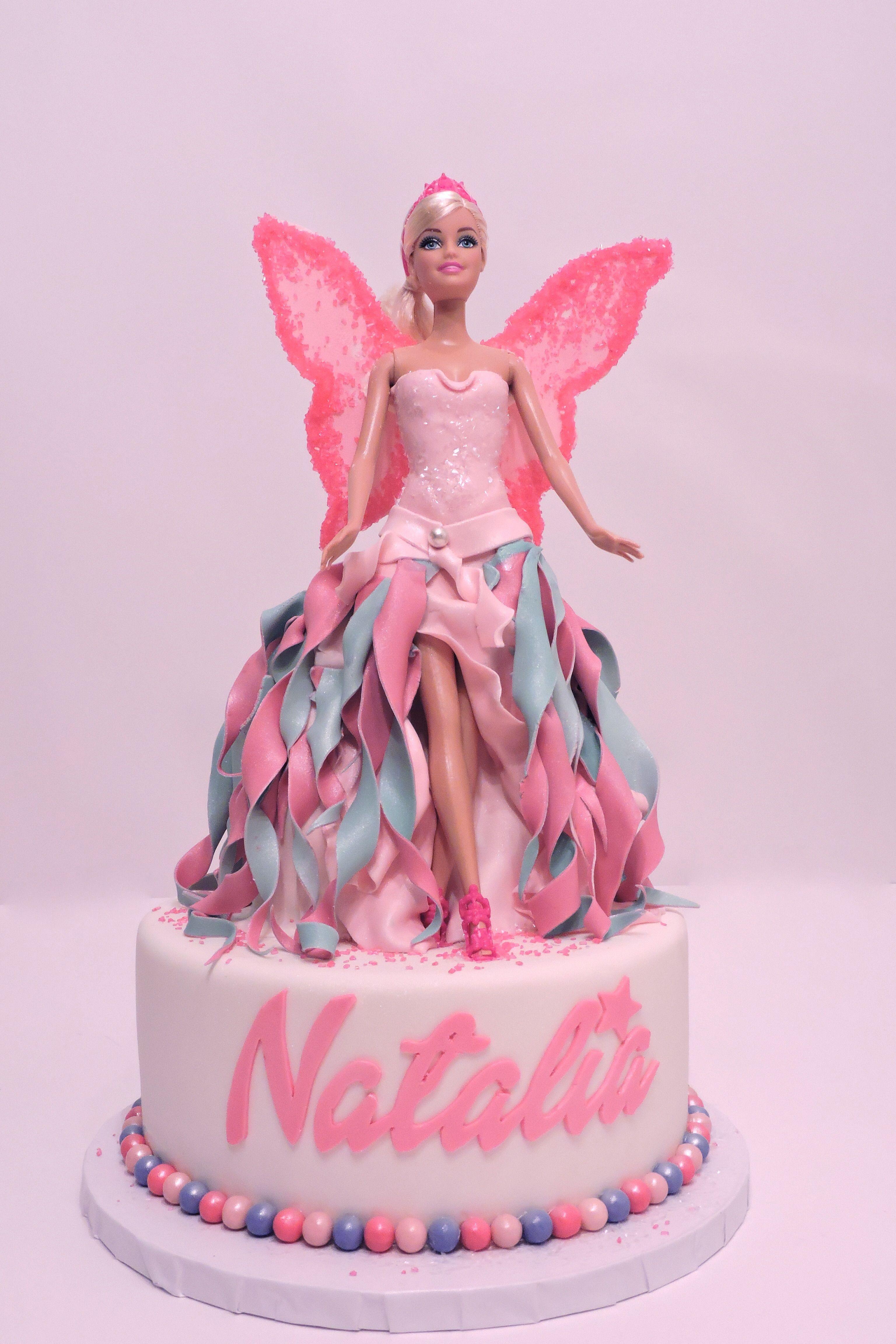 Barbie Fairy Cake With Images Barbie Birthday Cake Barbie