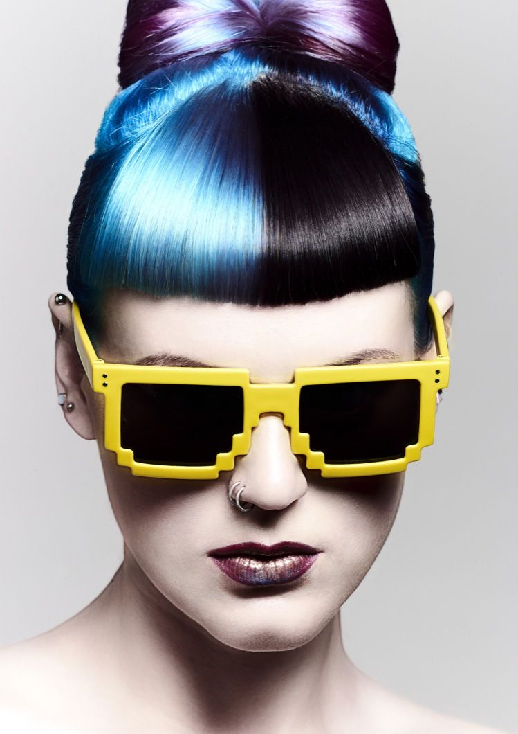Neon tokyo collection colleen stanford chumba concept salon hair