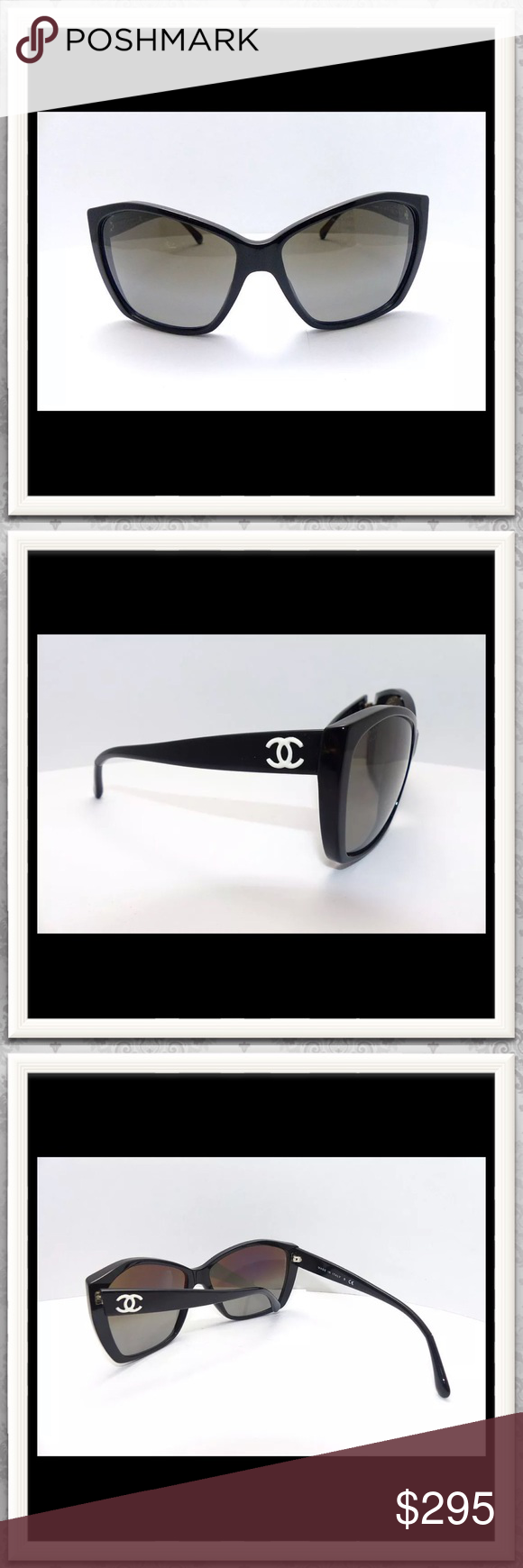 de06961b8b188 Chanel Sunglasses Model 5203 5203 Black Glitter Chanel Sunglasses. These  are in great condition. Beautiful sunnies. CHANEL Accessories Sunglasses