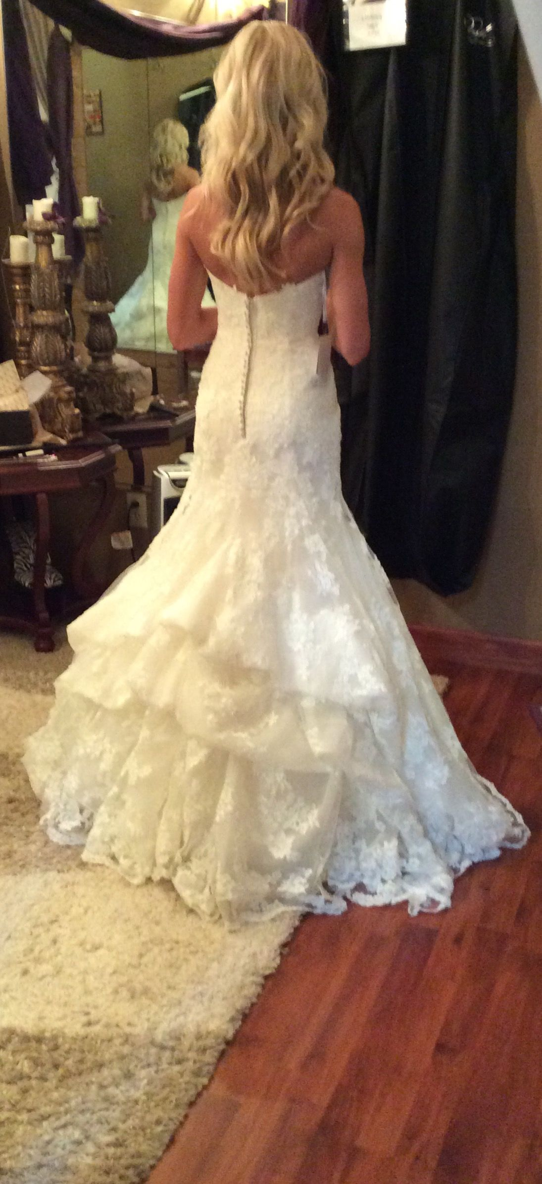 Waterfall Bustle Wedding Dress Train Bustle Wedding Dress