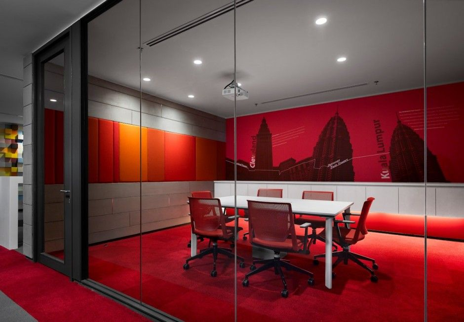 colorful office space interior design. Another HOK Atlanta Conference Room | Interiors Using Red Pinterest Room, And Office Designs Colorful Space Interior Design
