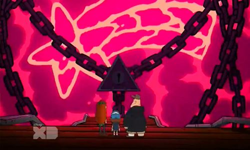 There's something wrong with that bubble though. When Bill first makes it, Mabel is surrounded in a flawless, perfect prison but he wraps it in chains. You don't create a cage and wrap it in chains to...