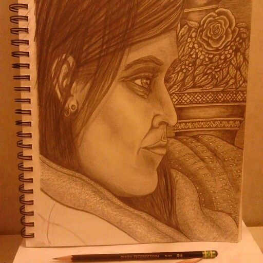 Pencil portrait for the wife.