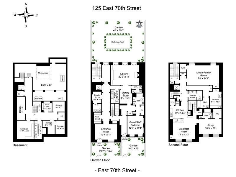 125 East 70th St Townhouse Sale In Lenox Hill