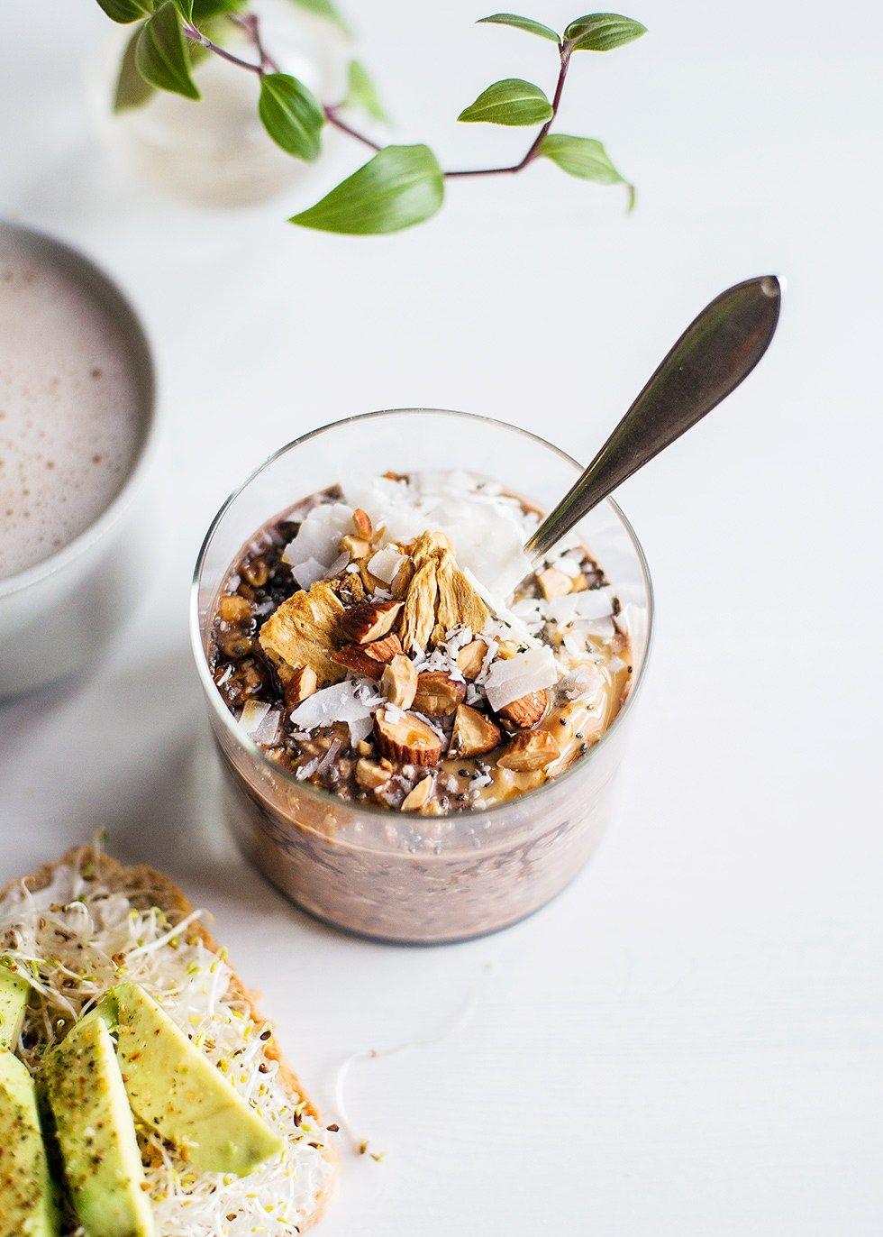 overnight oats jordnötssmör kakao