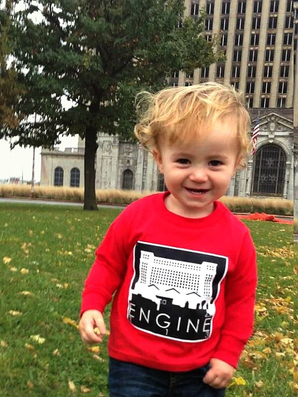 The New Detroit Respect kids Train Station Engine 313
