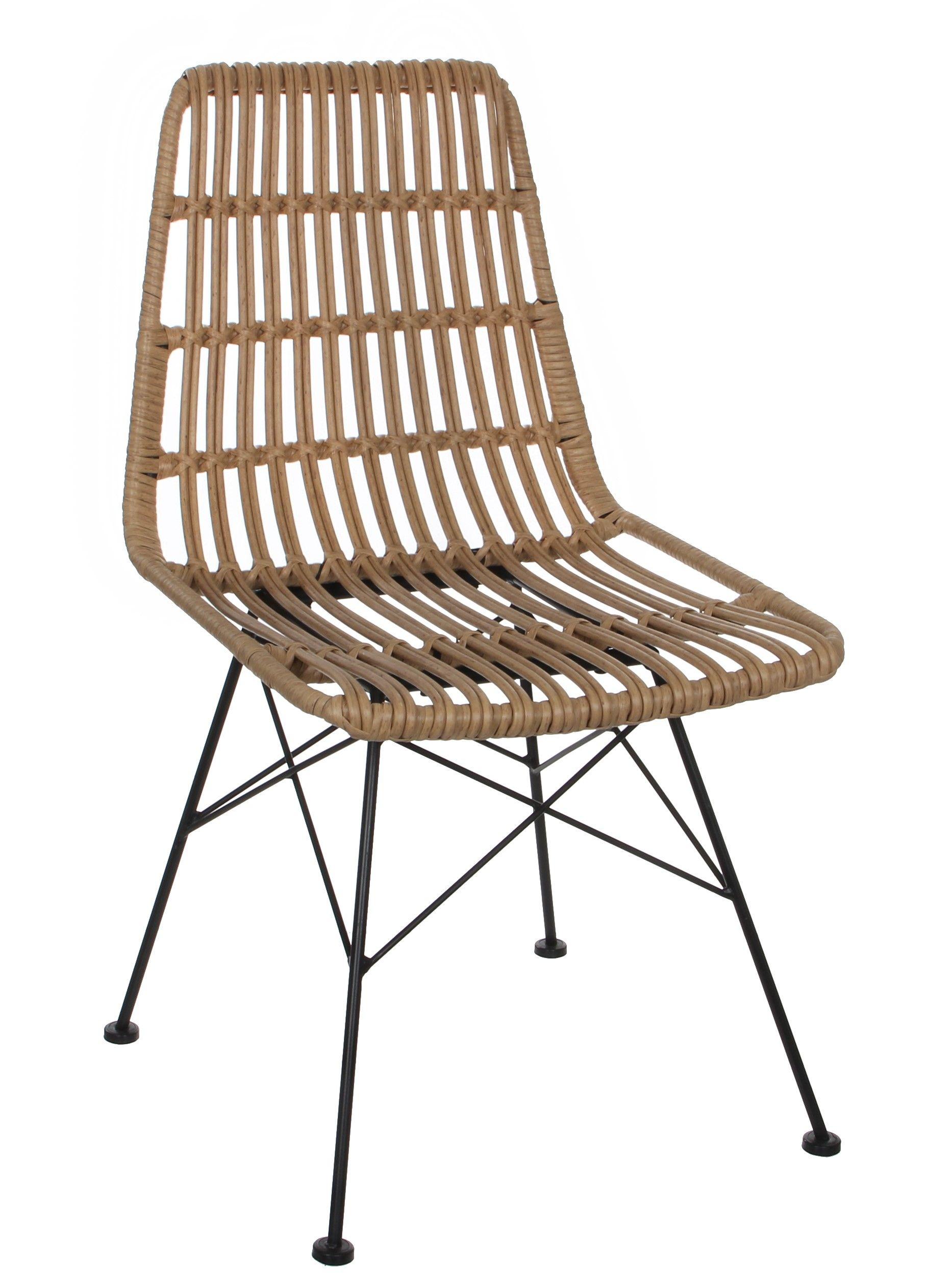 Chaise De Jardin Style Rotin Ajoure Couleur Naturelle Et Pieds Metal 47x56x85cm Avec Images Chaise De Jardin Chaise Couleur Naturelle