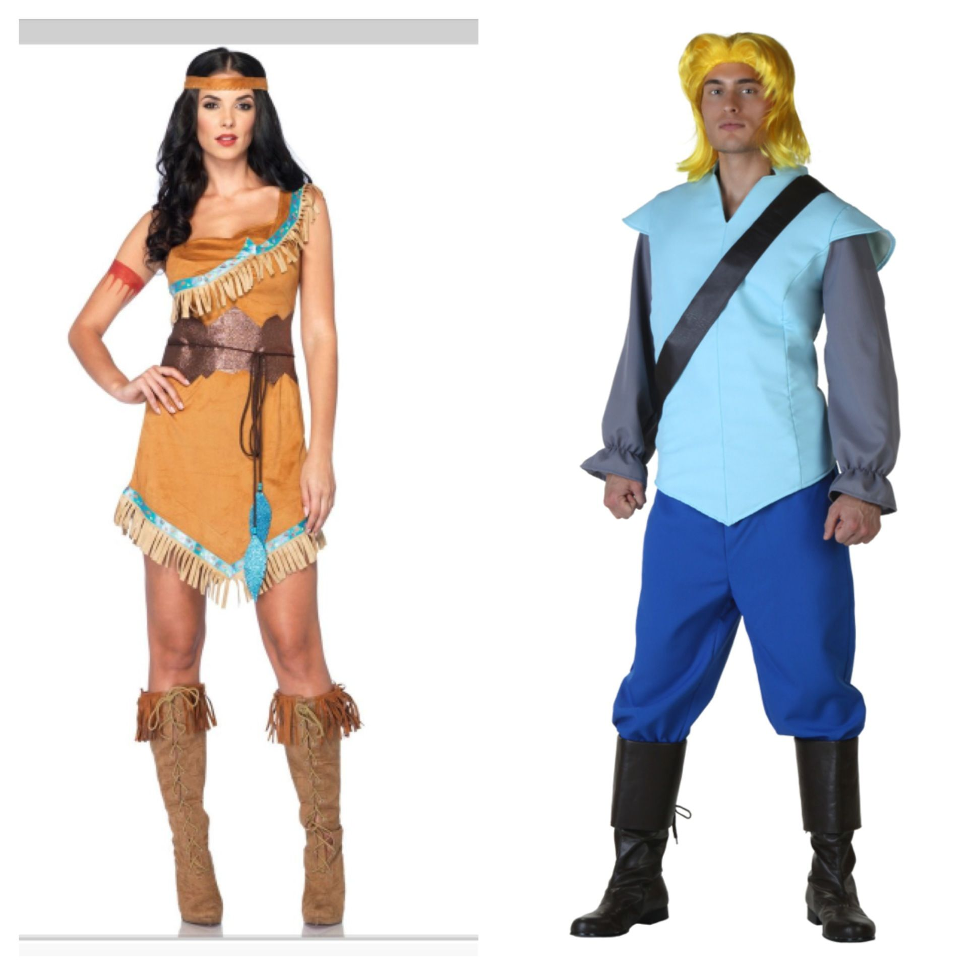 pocahontas and john smith couples costume costume party pinterest. Black Bedroom Furniture Sets. Home Design Ideas