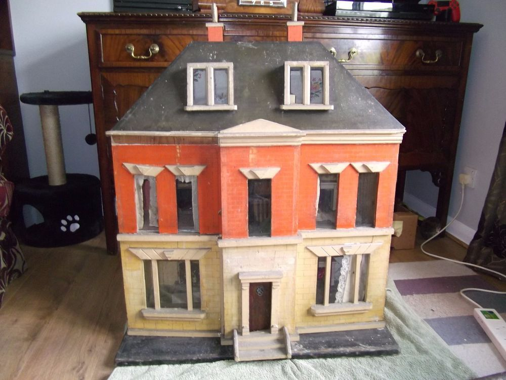 Hamley S 1930 S Wooden Dolls House To Renovate Ebay Wooden Dollhouse Doll House Wooden