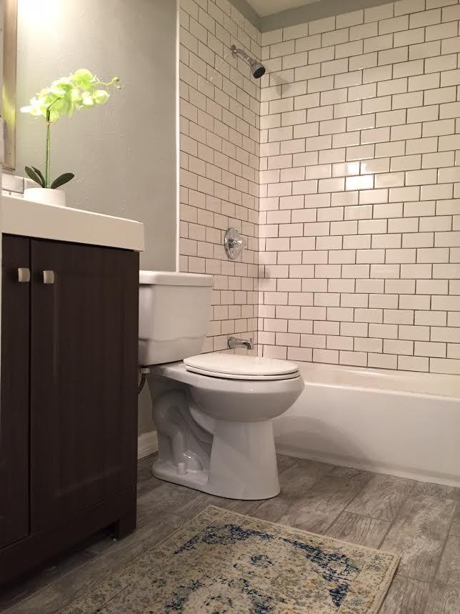 Home Depot Bathroom Flooring Ideas: SunnyChicHome -Wood Tile Floors- Home Depot 6x24 Montagna
