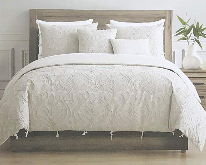 Amazon Com Tahari Home Maison Bedding King Size Luxury 3 Piece Duvet Comforter Cover Set Textured Woven Cotton Cl Duvet Comforters Tahari Home Comforter Cover
