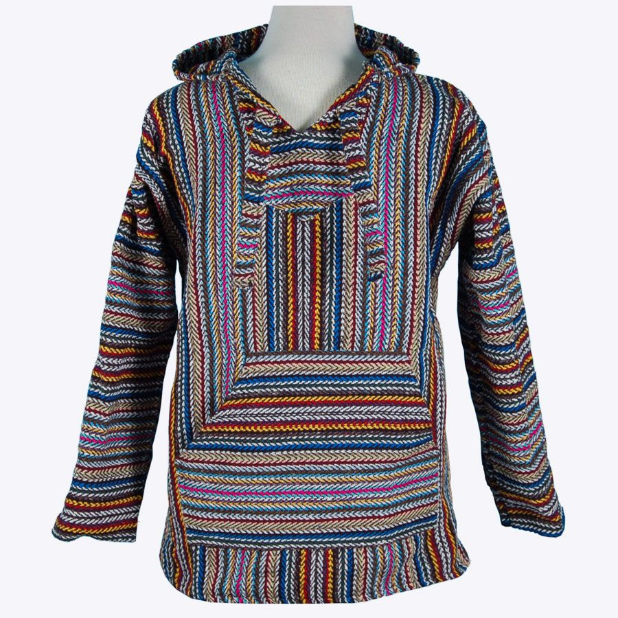made of recycled yarn!!! $18 Multi-Stripe Baja Hoodie ...