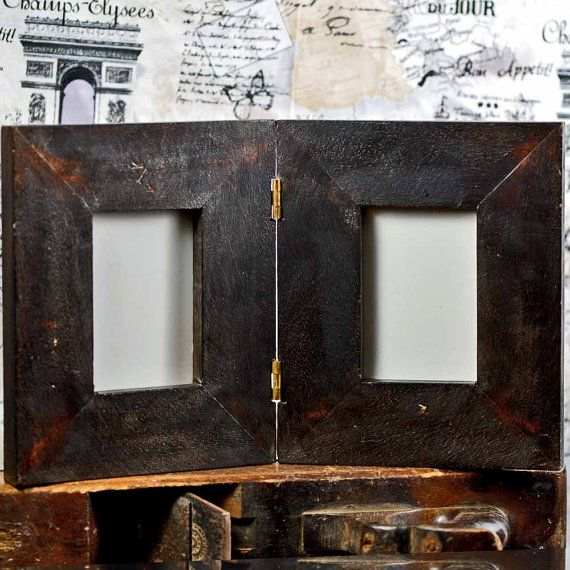VINTAGE double picture frame home decor office by CoolVintage