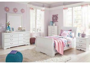 Best Anarasia White Twin Sleigh Bed W Dresser Mirror Sleigh Bedroom Set Bedroom Set Ashley 400 x 300