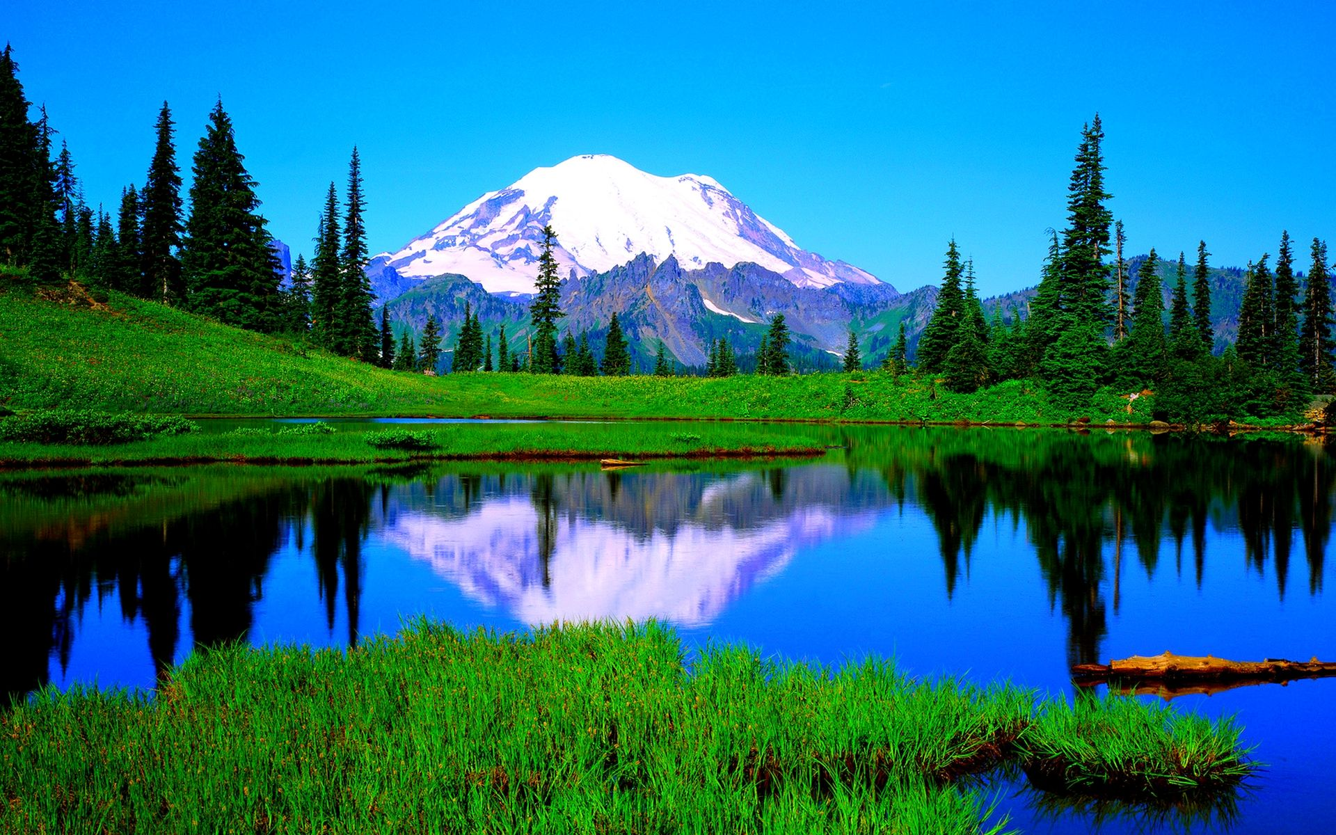 Calm Lake Desktop Background Wallpapers Hd Free 514894 Rainier National Park Mount Rainier National Parks