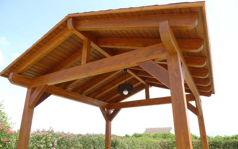 coberti cenador de madera a dos aguas cenador madera 2aguas coberti - Cenador De Madera