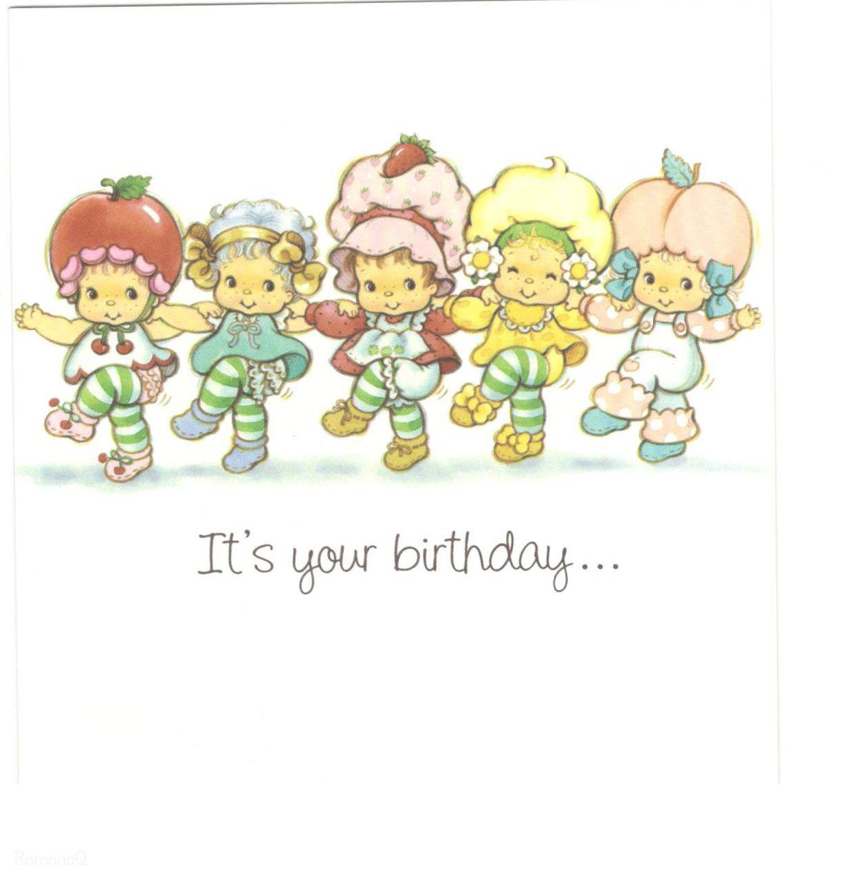 Vintage Kenner American Greetings Strawberry Shortcake Greeting – Strawberry Shortcake Birthday Card
