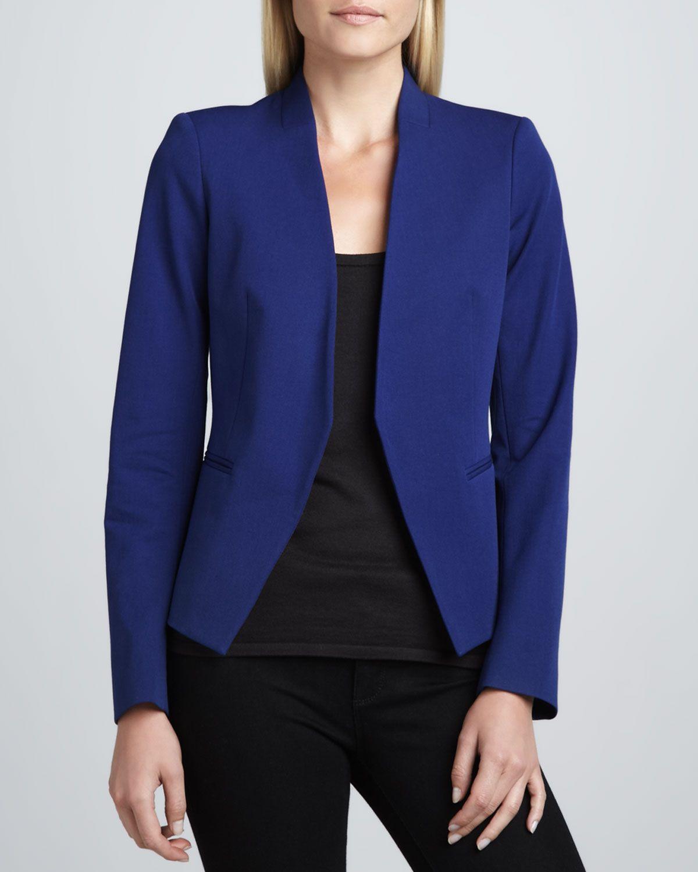 04c77158b2 Theory Lanai Basis Open Blazer, Bright Blue - Neiman Marcus | Blue ...