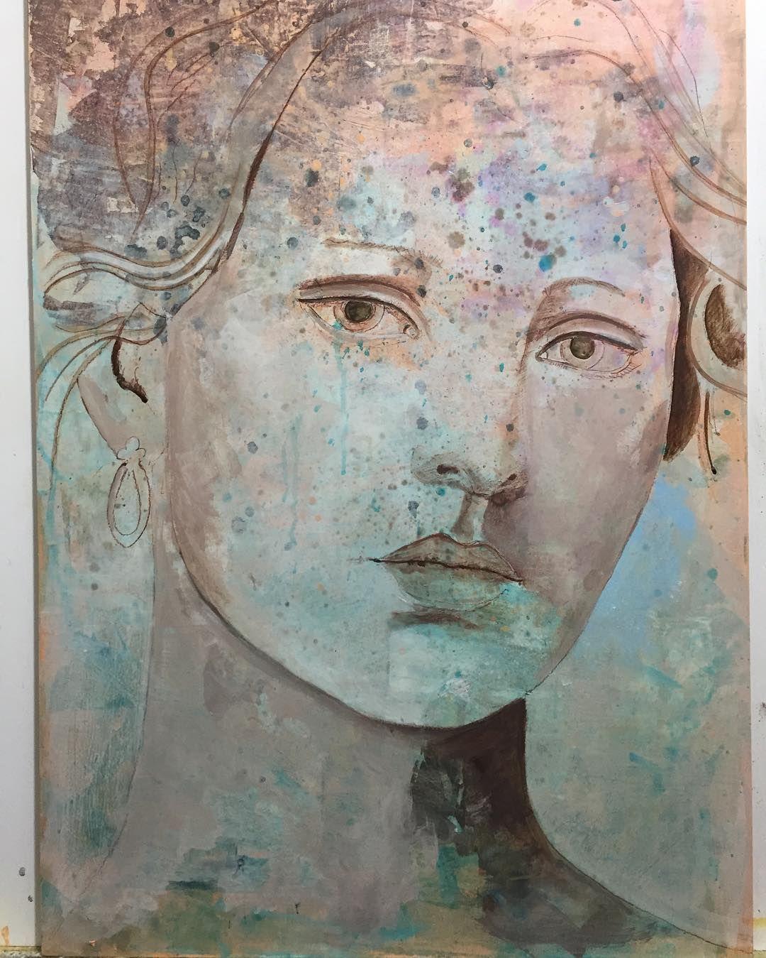 in progress  1 Stage #artist #art ##artwork #artnews #arte #original art #portrait #beautiful #fullcolor #almazzaglia #oilpainting #acrylics