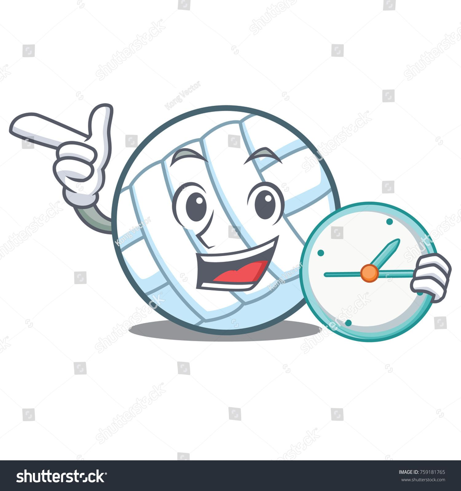 With Clock Volley Ball Character Cartoon Ad Ad Volley Clock Ball Cartoon In 2020 Character Cartoon Mockup Design