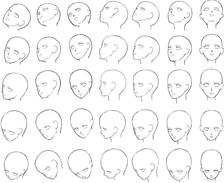 顔のアタリやプロポーションなどの簡単な顔の描き方講座まとめ 創造ログ 絵の書き方 描き方まとめ 顔のスケッチ 頭のスケッチ 顔 描き方