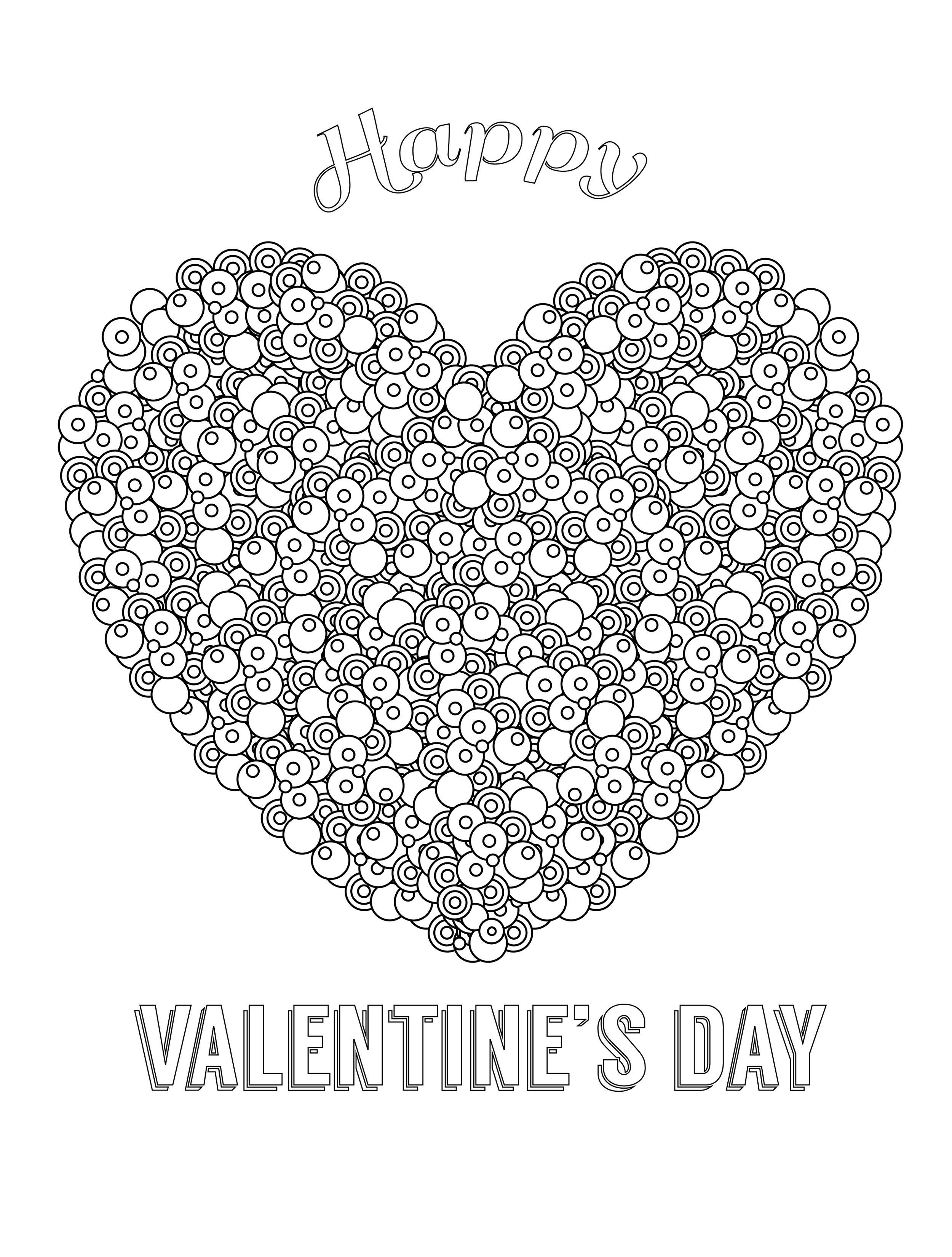 heart Valentines Abstract Doodle Zentangle Paisley Coloring pages ...