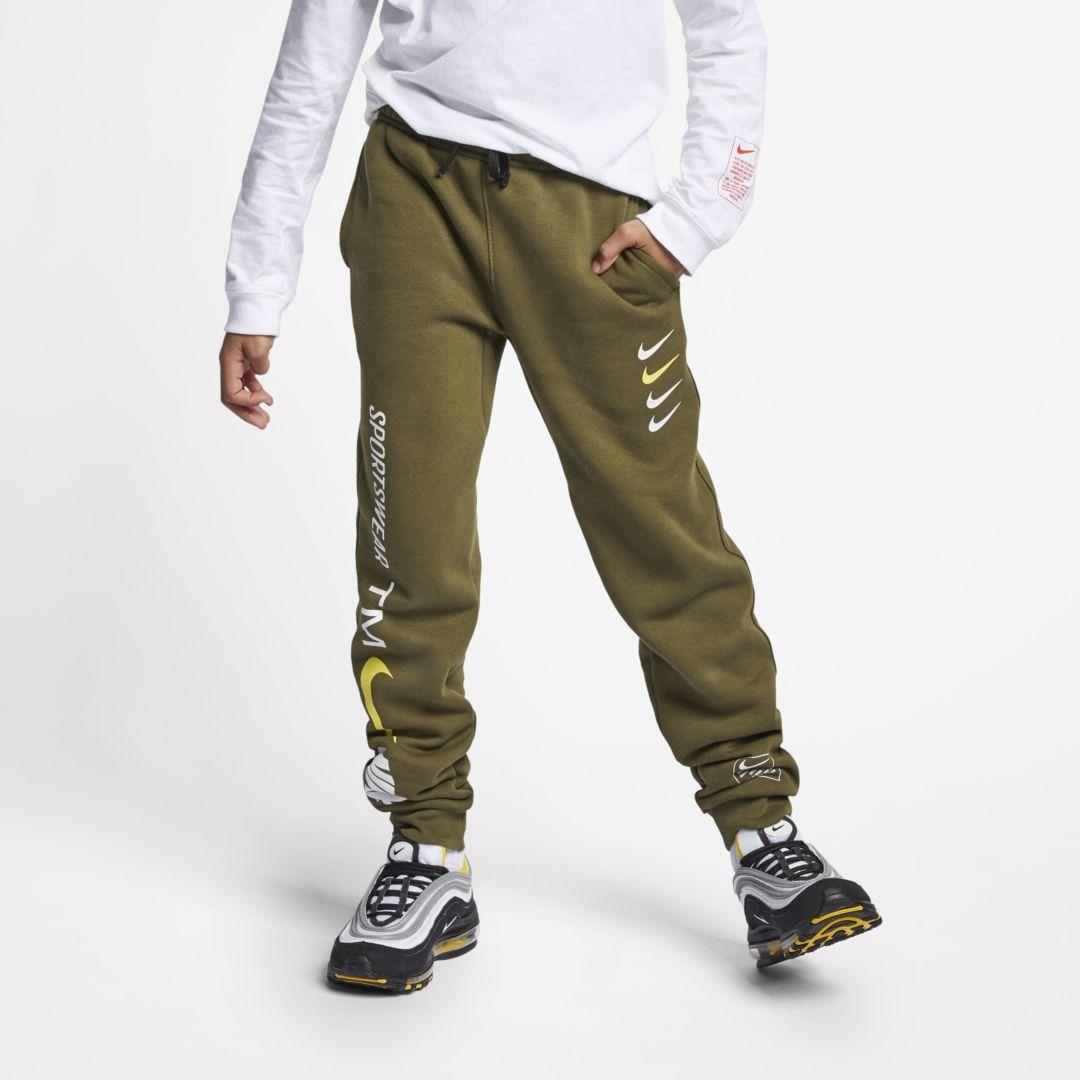 ccf24b5aa7a4 Nike Sportswear Club Fleece Big Kids  (Boys ) Joggers Size M (Olive Canvas)