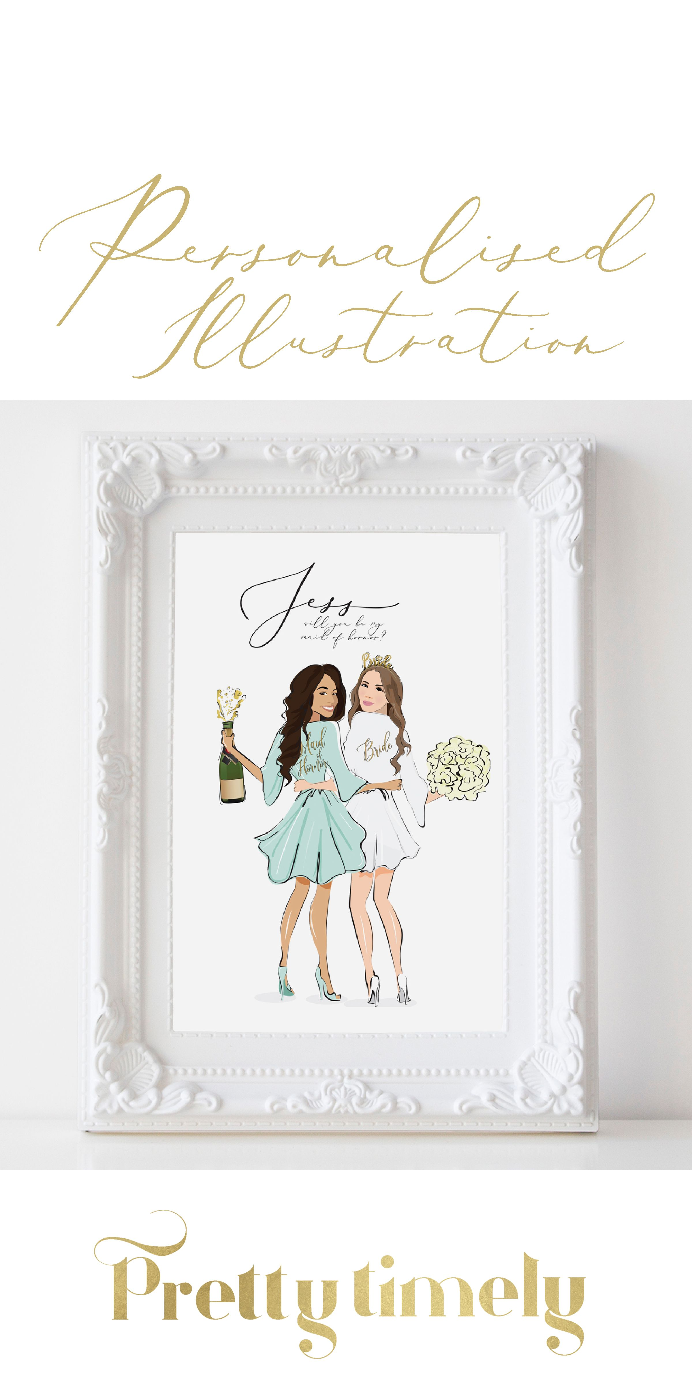 Gift Bride And Bridesmaids Propsal Best Friend Wedding Gifts Wedding Gifts For Friends Bridesmaid Proposal
