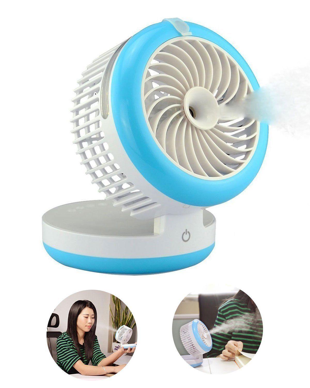 Portable Mini Misting Fan Table Fans Humidifier Fan 4