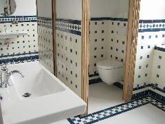 Carrelage Faience Style Ancien Carreaux Vieux Blanc 10x20 Et Cabochons Bleu Ancien 5x5 I Decoration Salle De Bain Salle De Bain Design Carrelage Salle De Bain
