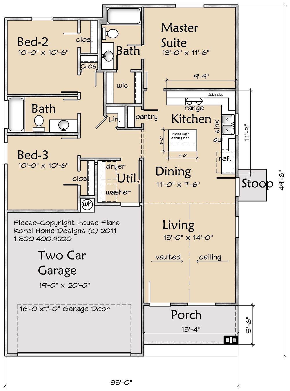 House Plans by Korel Home Designs - not a bad 1 floor plan | For ...