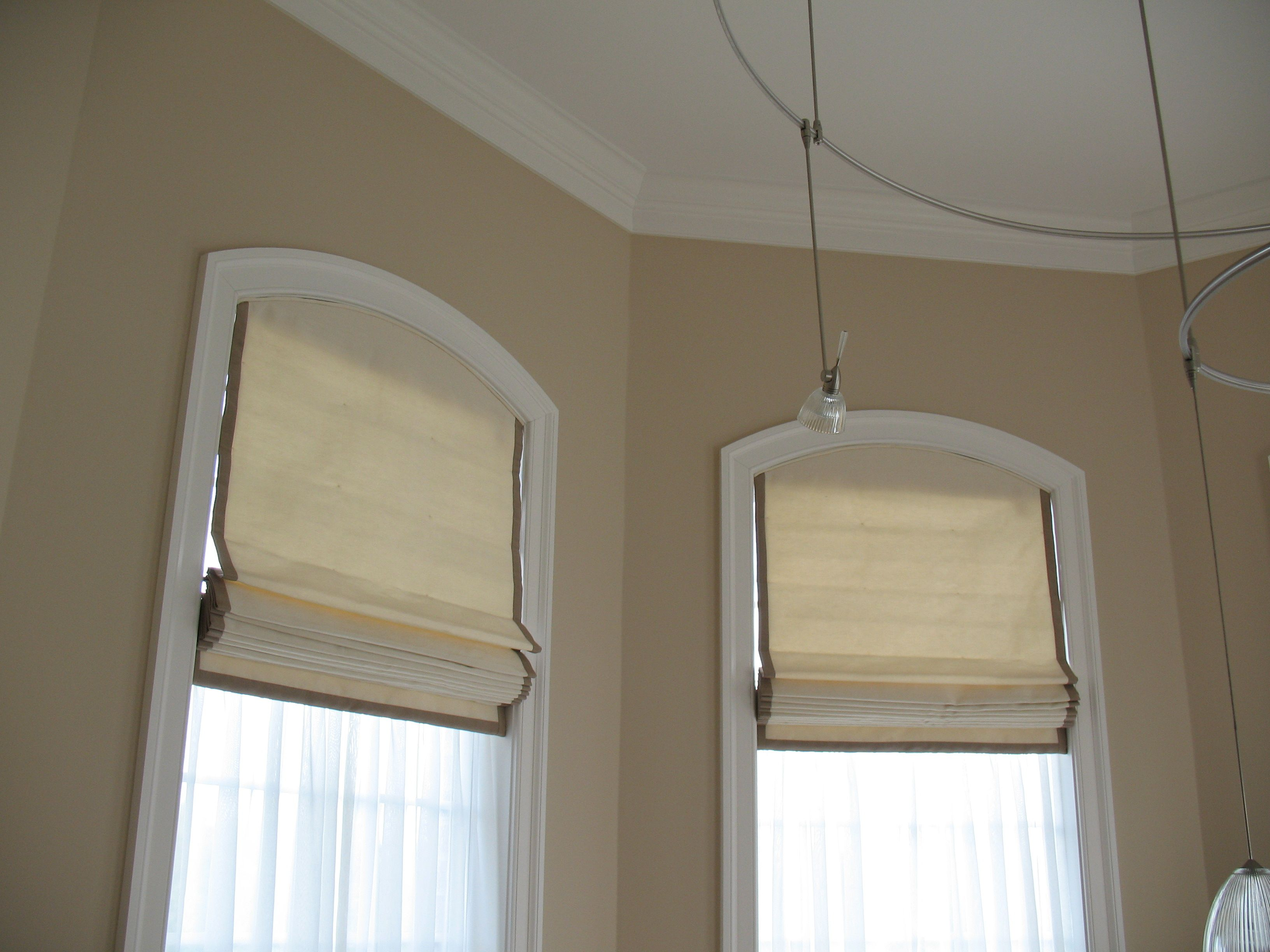 Arch Top Roman Shades Arched Window Treatments Arched
