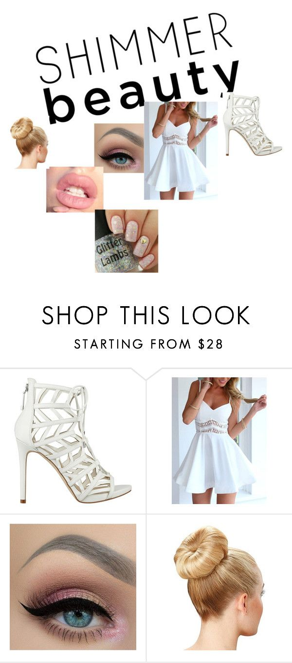 """""""White as an Angel"""" by winteradams on Polyvore featuring Belleza y GUESS"""