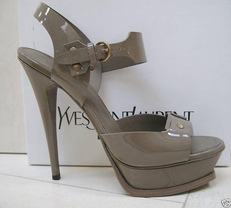 cc5e81bc3ed NIB YSL Yves Saint Laurent Tribute STUD 105 Platform Slingback Sandal Shoes  40.5