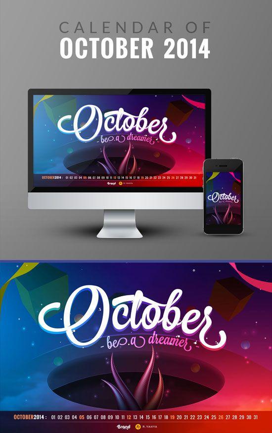 Desktop wallpaper calendar of October 2014  DOWNLOAD via: http://bit.ly/1DXUguH