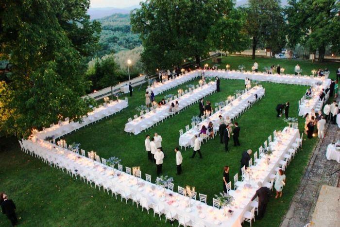 Exclusive Villa in Tuscany, Outdoor wedding reception ...