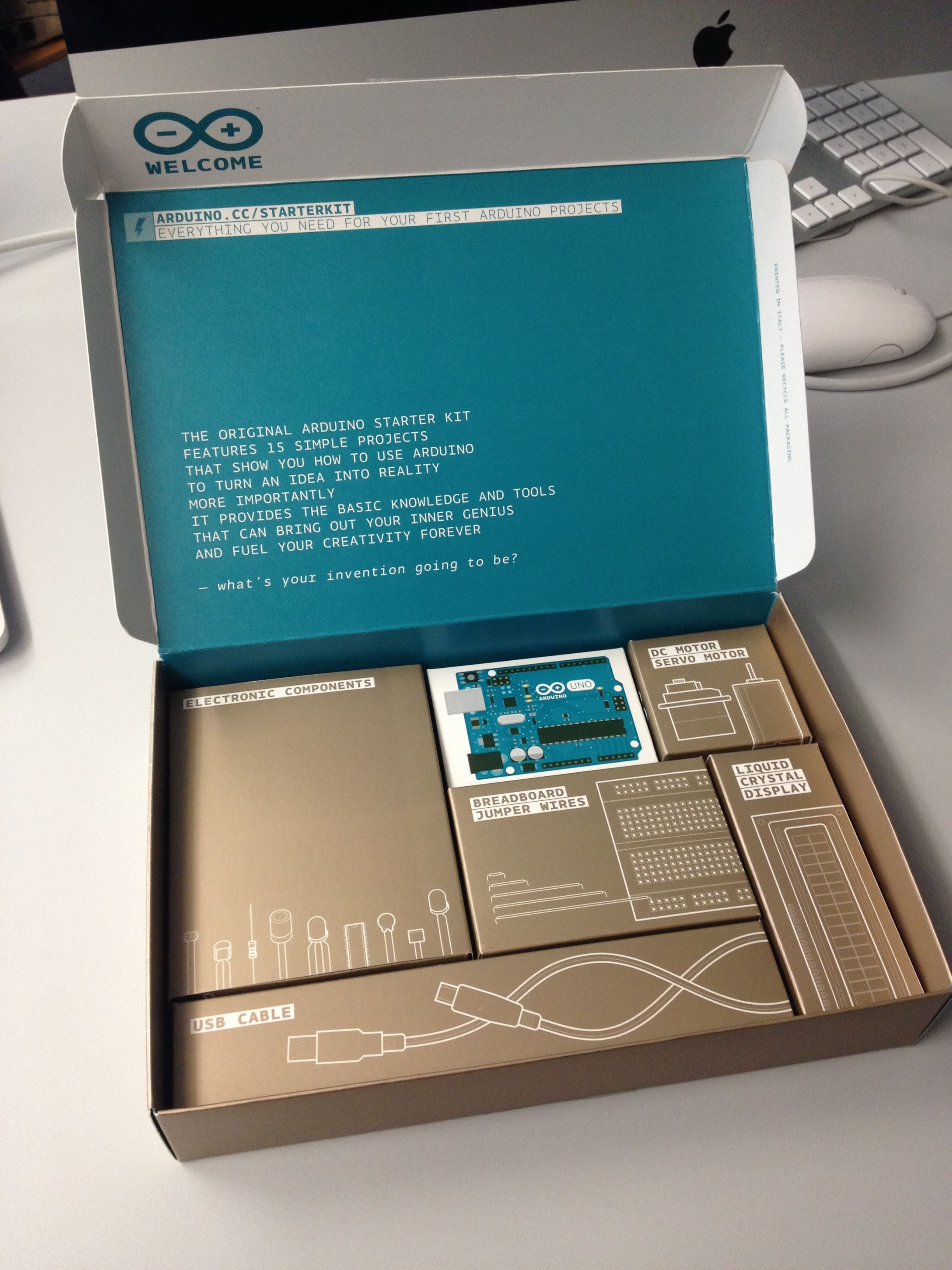 Really Nice Packaging Design By Arduino Arduino Starter Kit