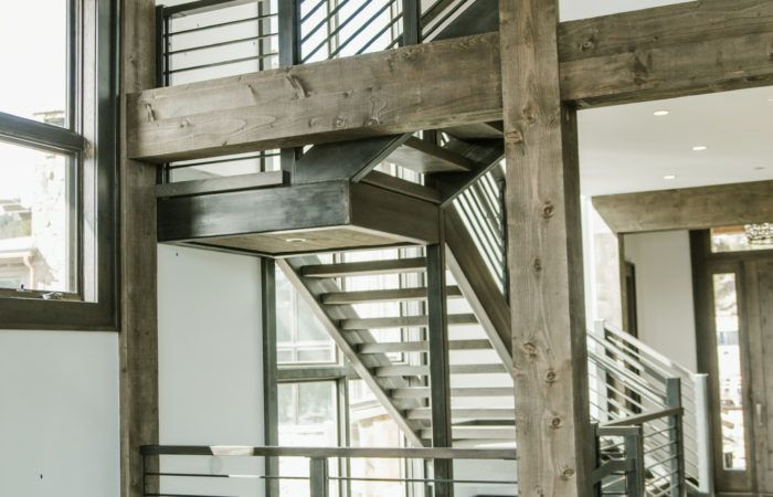 Best Image Result For Exposed Iron Stairs To Cabin Mezzanine 400 x 300