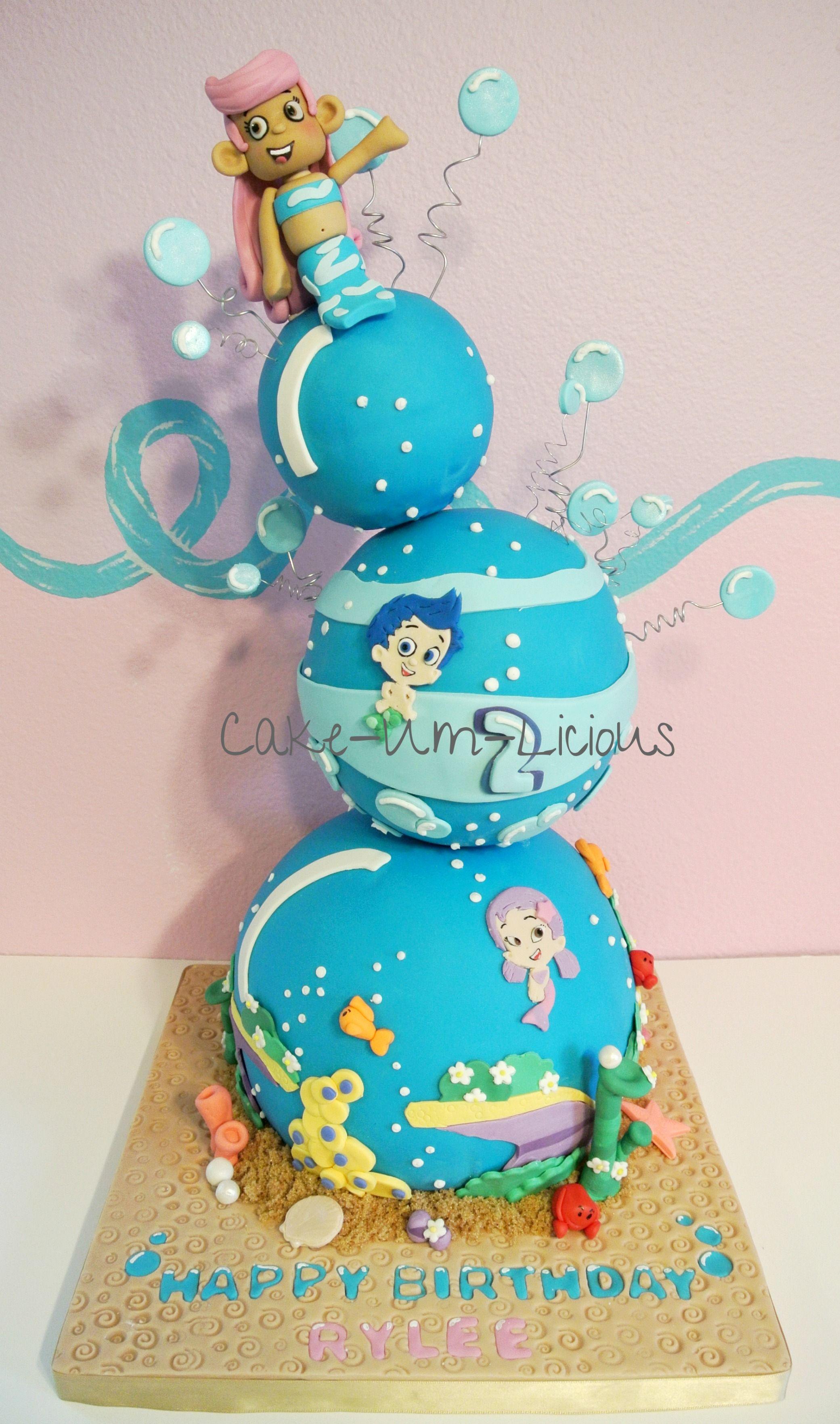 3d Bubble Guppies Cake